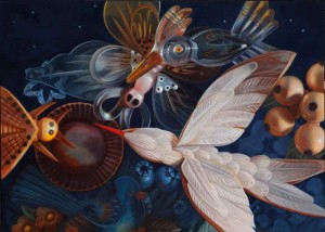 "Ann Ekstrom's ""Night Bloomer"" is on display at Artspace 111."