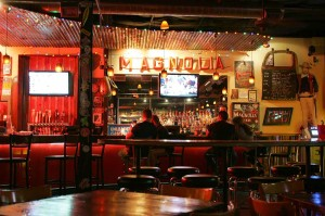 Day or night, inside or out, it's hard not to have fun at Magnolia Motor Lounge. Lee Chastain