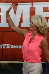 Wendy Davis may be looking good, but she's also working for the people. Jeff Prince