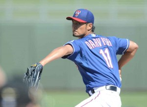 Yu Darvish prepares to pitch — and it's a sight to see. AFLO/ZUMAPRESS.com
