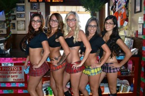 ANOTHER DRESSUP DAY AT REDNECK HEAVEN, THIS ONE INVOLVING GEEKY GLASSES. (photo courtesy of Redneck Heaven)