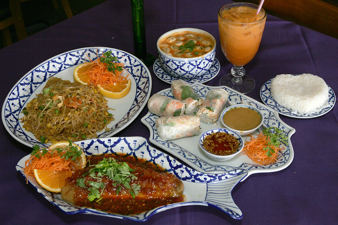 The goodies are tasty — and plentiful — at Thai Papaya Garden. Lee Chastain