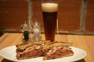 The reuben may not require a knife and a fork but is delish. Lee Chastain