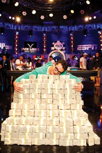 Esfandiari paid $1 million to enter a 2012 WSOP charity tournament — and won $18 million. Courtesy WSOP
