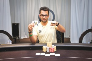 "Esfandiari: ""At the end of the day, it's still just another poker tournament."" Courtesy WSOP/PokerNews"