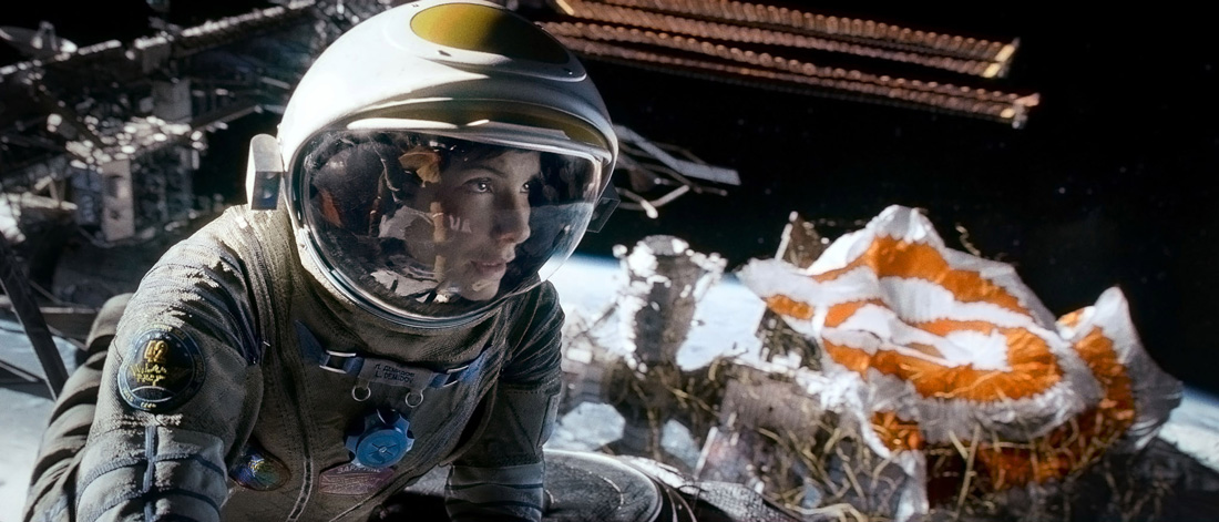 Sandra Bullock is stranded a long way from home in Gravity.