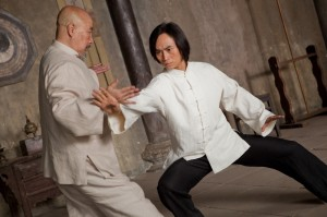 Yu Hai and Tiger Hu Chen spar in Man of Tai Chi.