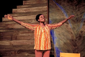 Ebony Marshall-Oliver stars in Neat, a companion piece of sorts to playwright Charlayne Woodard's Pretty Fire.