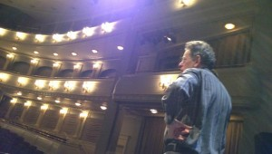 The composer takes in Bass Hall before his performance of Dracula.
