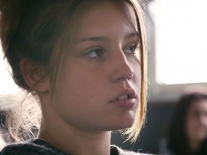 "Adèle Exarchopoulos in ""Blue Is the Warmest Color."""