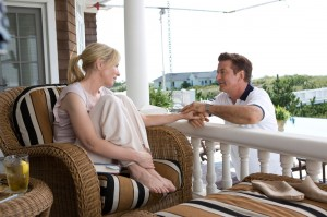 Cate Blanchett relaxes in the Hamptons with Alec Baldwin during happier times in Blue Jasmine.