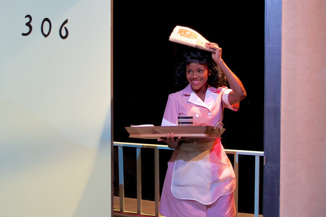 Bryan Pitts and Ashley Wilkerson star in Jubilee Theatre's The Mountaintop.