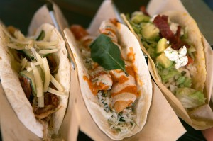 The food comes out fast and furious — and delicious — at Velvet Taco. Lee Chastain