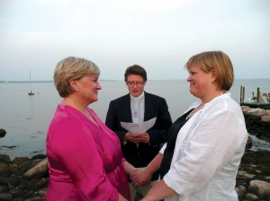 Bryce, left, and Lisa November were married in 2011 in Mystic, Conn. Courtesy Lee Ann Bryce