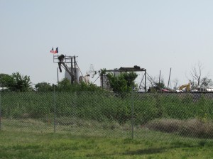 The explosion's ground zero can be seen from the campus of West High School. Courtesy Rush Olson
