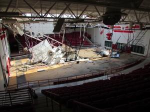 West High School's auditorium sustained major damage in the blast last April. Courtesy Rush Olson