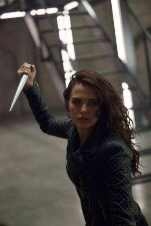 Zoey Deutch wields a silver stake in Vampire Academy.