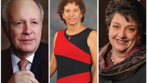 Left to right, George Mackey, Kathy Lowthorp, and Sharen Wilson are all vying for the job of district attorney. Courtesy photos