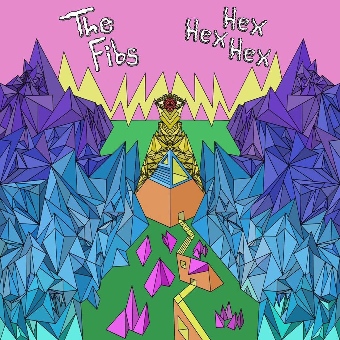 With artwork by Cody Soape, The Fibs' recently released debut album, Hex Hex Hex, is bipolar.
