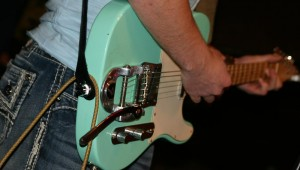 FRANKENTELLY, THE SEA FOAM GREEN GUITAR MADE FROM SPARE PARTS. (All photos by Jeff Prince)