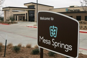 Mesa Springs, in southwest Fort Worth, is helping deal with an overflow of patients. Lee Chastain