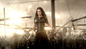 Eva Green has two swords and an army of Persians at her back in 300: Rise of an Empire.