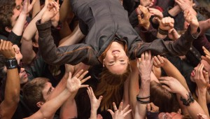 Shailene Woodley is welcomed into her new faction in Divergent.