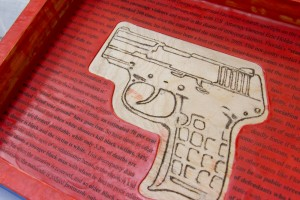 """Susan Sponsler's """"gun case"""" (detail)"""