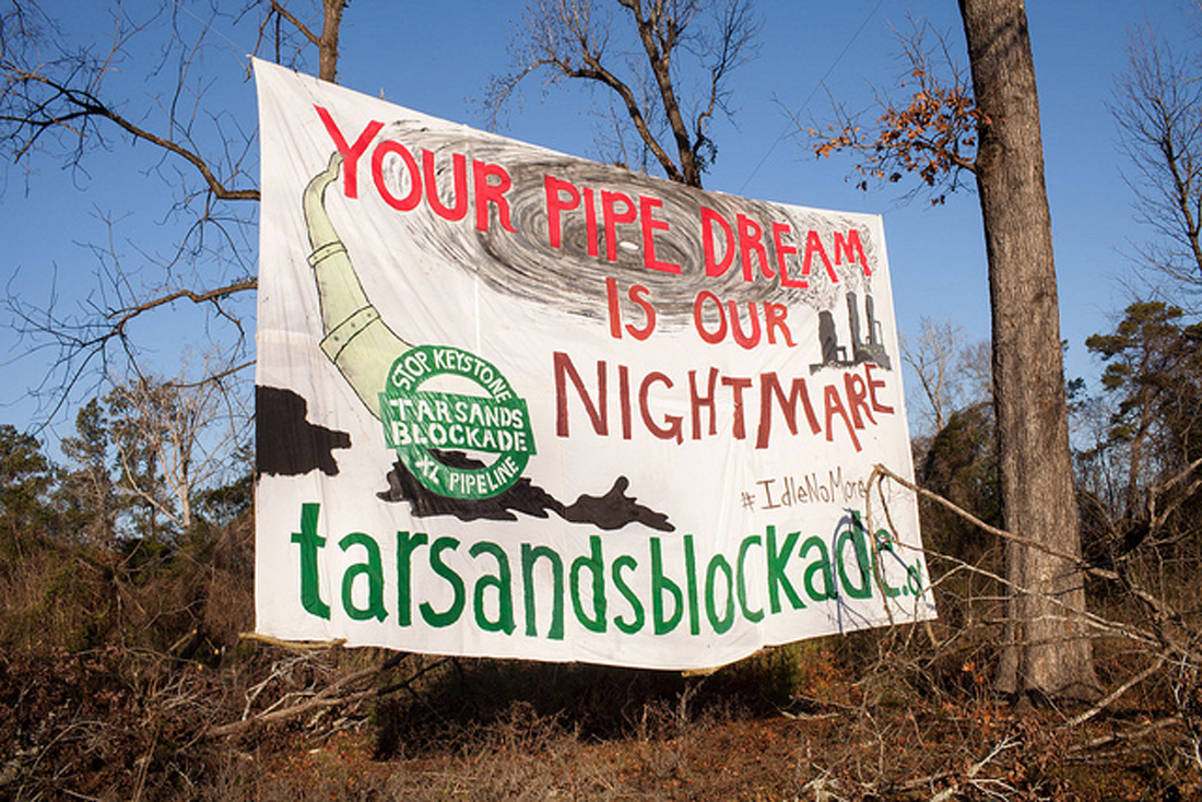 In Texas, the Tar Sands Blockade delayed but could not stop the southern leg of the Keystone. Tar Sands Blockade