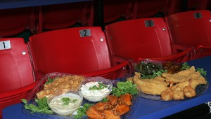 Plop into a stadium-style seat and loosen your belt at TJ's. Lee Chastain