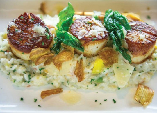 Bite City Grill's diver scallop risotto is a blend of lightness and creaminess. Brian Hutson