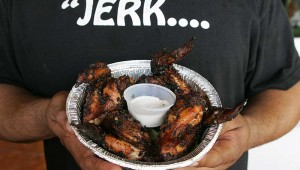 The jerk chicken is delicious and only mildly spicy at Stay C's. Lee Chastain
