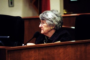Judy Needham was questioned about her association with the Linebarger law firm. Matthew Blake