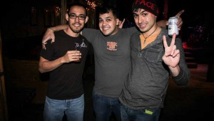 (From left to right) Esteban Juarez, Jonathan Villalobos, and Jorge Armenta comprise one of the only Spanish-language punk bands in town.
