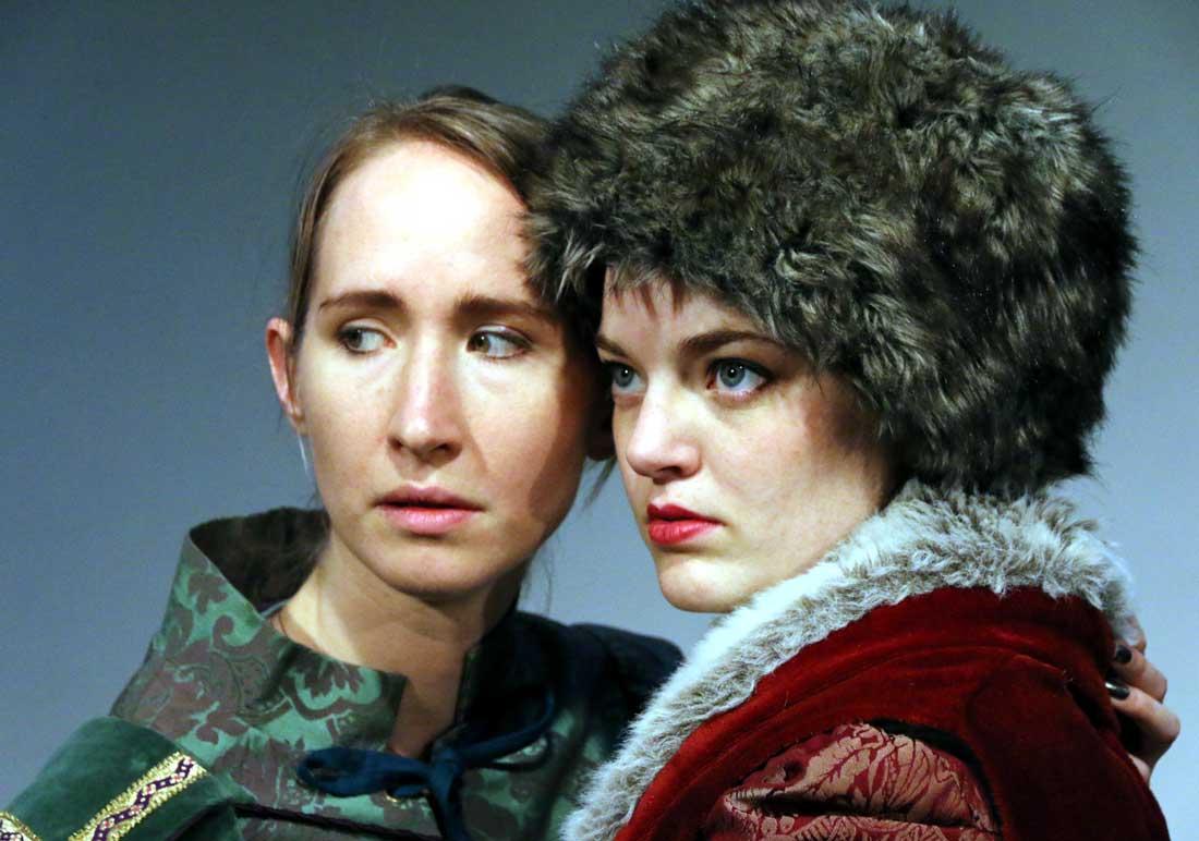 Anastasia Muñoz (left) and Katherine Bourne star in Stage West's lively production of Orlando. Buddy Myers