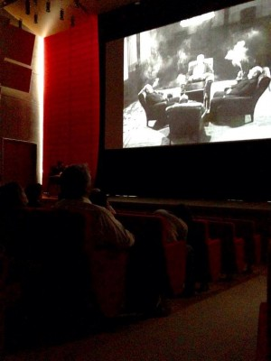Moviegoers take in some filmic Soviet propaganda at ArthouseFW at the Piano Pavilion. Courtesy: LSFS.