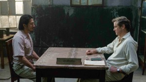 Hiroyuki Sanada is confronted by Colin Firth about his war crimes in The Railway Man.