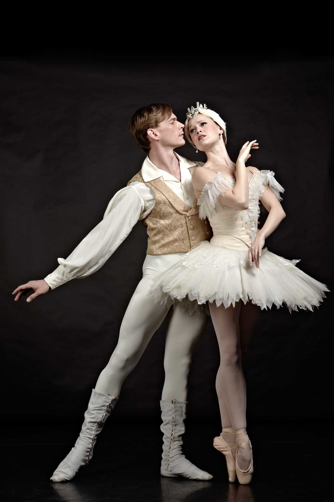 Pictured with Carolyn Judson, TBT principal Lucas Priolo will close out his career with Swan Lake.