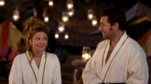 Drew Barrymore and Adam Sandler enjoy a moment to themselves at a South African resort in Blended.