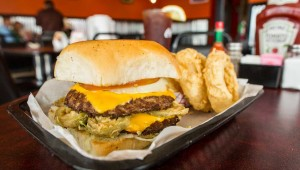 Like all of T.P.R.'s burgers, the jalapeño burger arrives on a Hawaiian roll. Vishal Malhotra