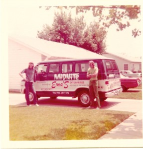 Ema's bands drove vans with custom paint jobs. Courtesy Ema's Enterprises
