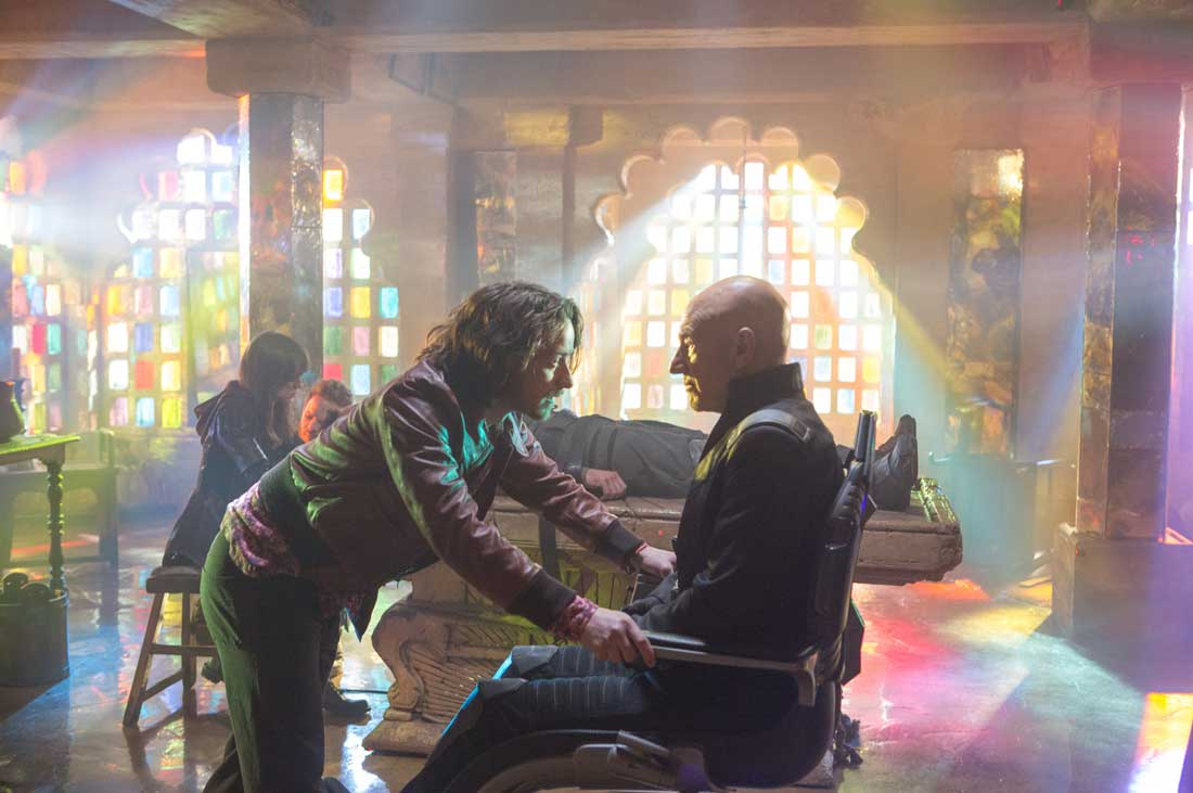 So, I'm gonna go bald? James McAvoy faces his older self in Patrick Stewart in X-Men: Days of Future Past.
