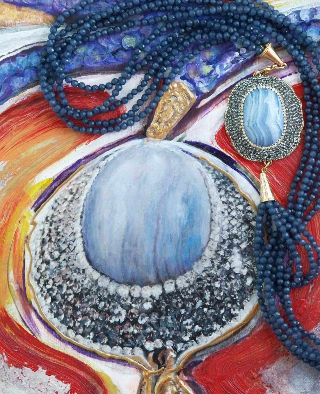 """Jeanette Korab's """"Blue Lariat"""""""