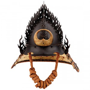 This helmet represents the flaming jewel.