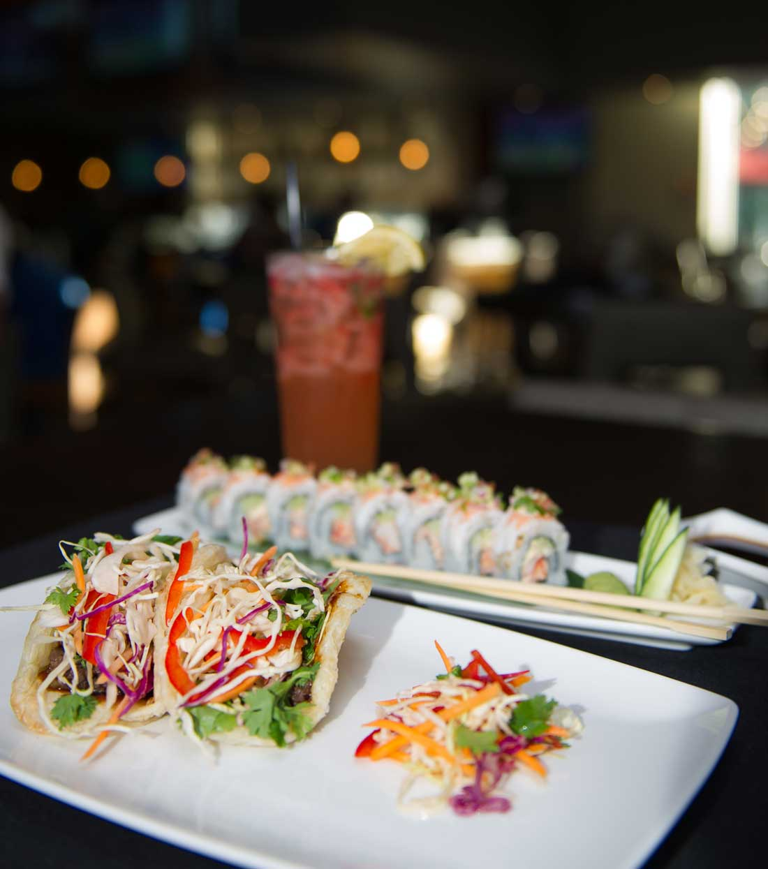 Kona Grill's beef bulgogi tacos and shrimp-and-lobster roll await. Brian Hutson