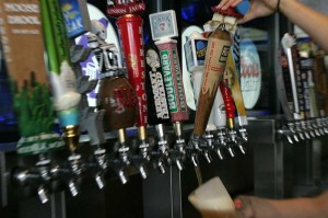 There are dozens of craft beer taps at Brewsters.