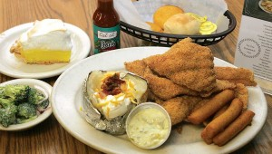 All-you-can-eat catfish is part of the allure of Joe's Coffee Shop. Lee Chastain