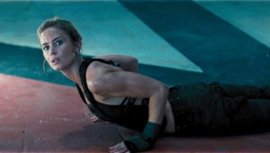 Emily Blunt trains for battle in Edge of Tomorrow.