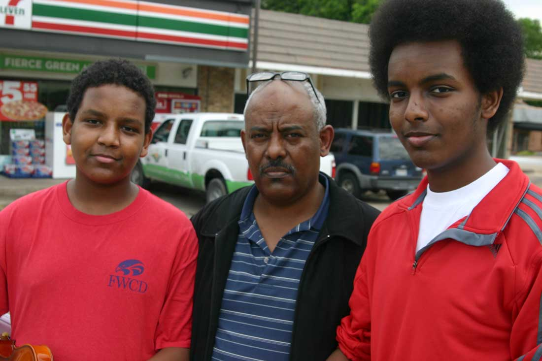 (Left to right) Benyam, Sam, and Tedros plan to introduce Ethiopian cuisine to Cowtown. Jeff Prince