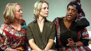 (From left to right) Wendy Welch, Dana Schultes, and Natalie Wilson King star in Stage West's outstanding new drama.